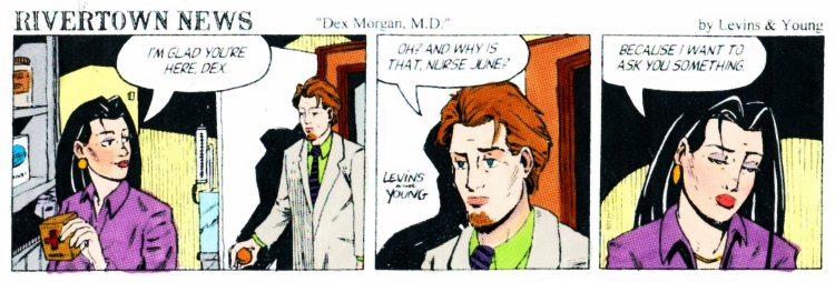"""This is a parody strip about one you might have heard of starring a doctor called """"Rex."""" Presented today in fabulous technocolor for Sunday fun courtesy of studioseena again. Sorry about the scan quality!"""